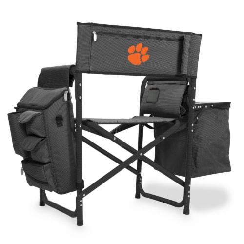 Clemson Tigers - Fusion Backpack Chair with Cooler Perspective: front
