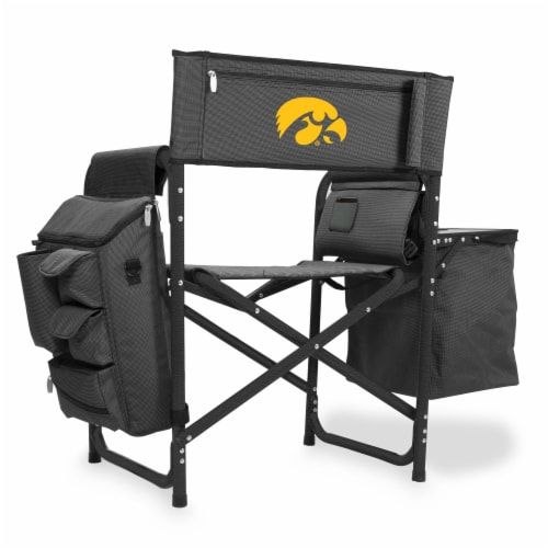 Iowa Hawkeyes - Fusion Backpack Chair with Cooler Perspective: front