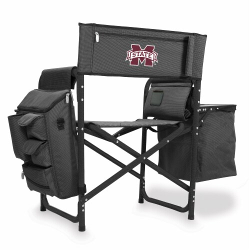 Mississippi State Bulldogs - Fusion Backpack Chair with Cooler Perspective: front