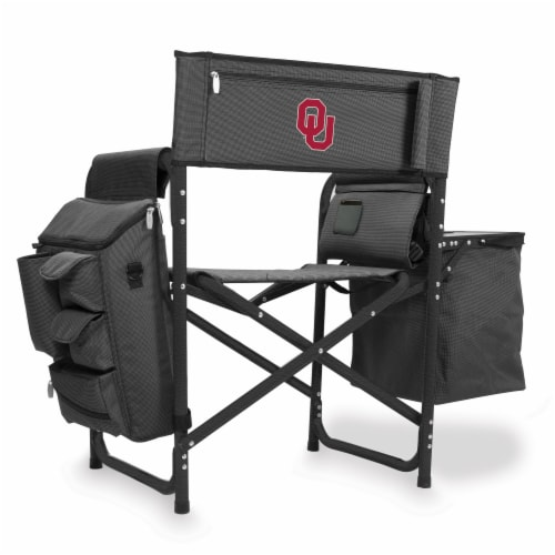 Oklahoma Sooners - Fusion Backpack Chair with Cooler Perspective: front