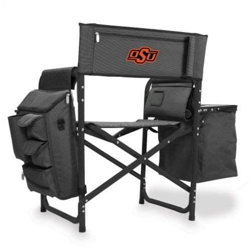 Oklahoma State Cowboys - Fusion Backpack Chair with Cooler Perspective: front