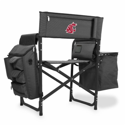Washington State Cougars - Fusion Backpack Chair with Cooler Perspective: front