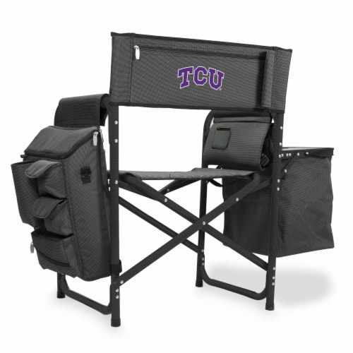 TCU Horned Frogs - Fusion Backpack Chair with Cooler Perspective: front