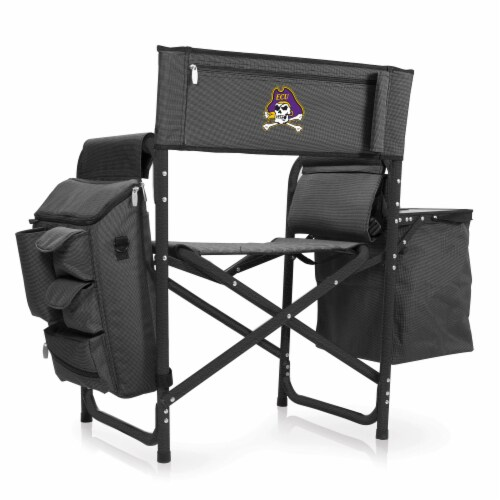 East Carolina Pirates - Fusion Backpack Chair with Cooler Perspective: front