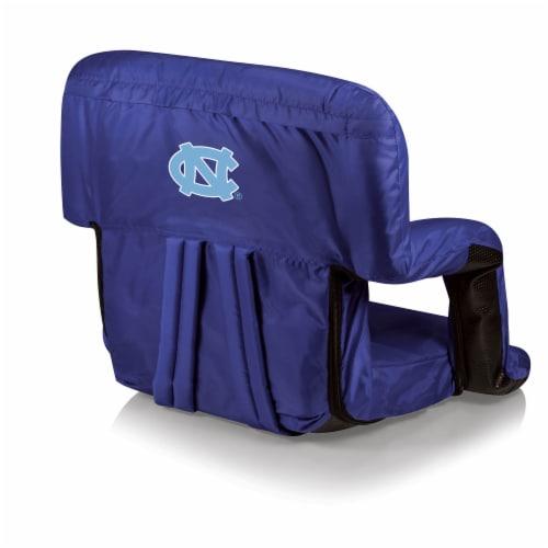 North Carolina Tar Heels Ventura Portable Reclining Stadium Seat - Navy Perspective: front
