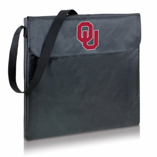Oklahoma Sooners - X-Grill Portable Charcoal BBQ Grill Perspective: front
