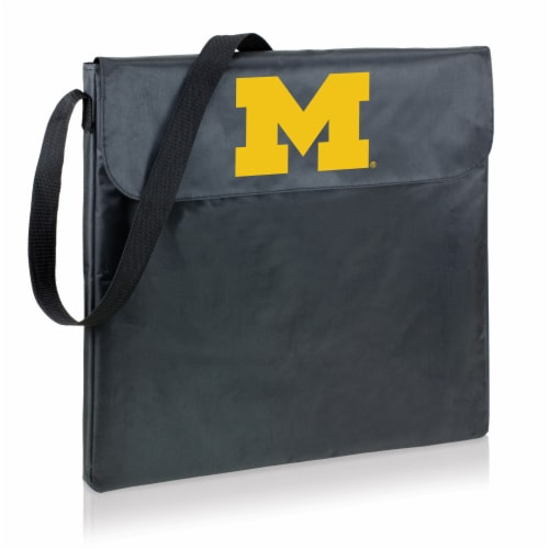 Michigan Wolverines - X-Grill Portable Charcoal BBQ Grill Perspective: front
