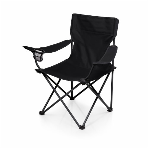 PTZ Camp Chair, Black Perspective: front