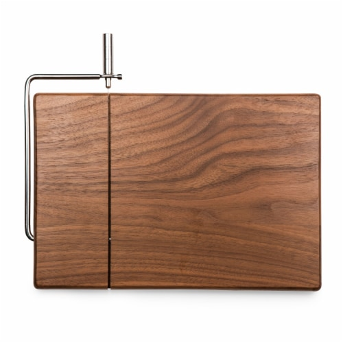 Meridian Black Walnut Cutting Board & Cheese Slicer, Black Walnut Perspective: front
