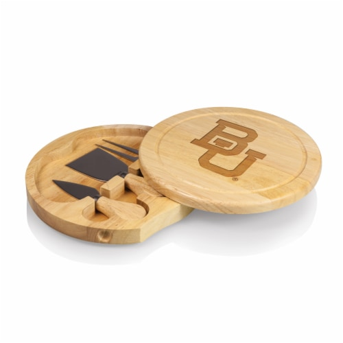 Baylor Bears - Brie Cheese Cutting Board & Tools Set Perspective: front