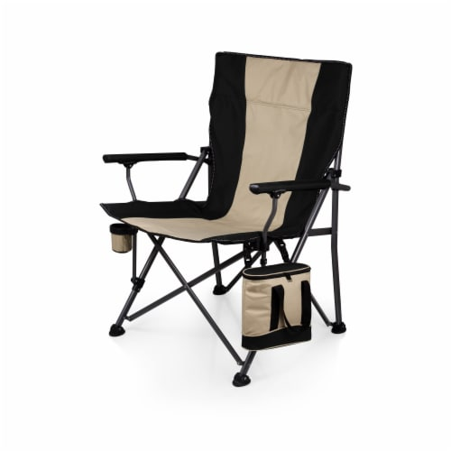Big Bear XL Folding Camp Chair with Cooler, Black Perspective: front