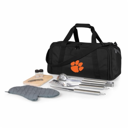 Clemson Tigers - BBQ Kit Grill Set & Cooler Perspective: front