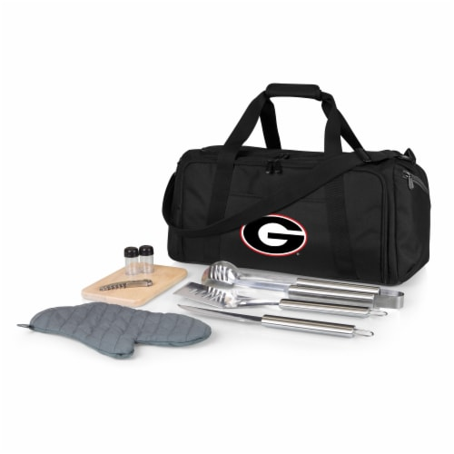 Georgia Bulldogs - BBQ Kit Grill Set & Cooler Perspective: front
