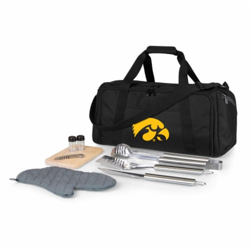 Iowa Hawkeyes - BBQ Kit Grill Set & Cooler Perspective: front