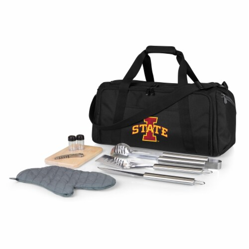 Iowa State Cyclones - BBQ Kit Grill Set & Cooler Perspective: front