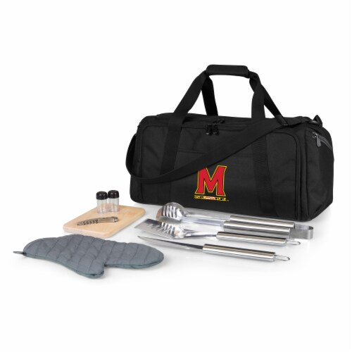Maryland Terrapins - BBQ Kit Grill Set & Cooler Perspective: front