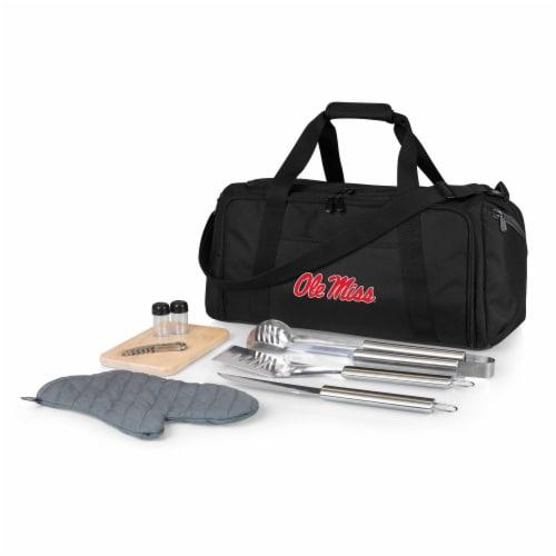 Ole Miss Rebels - BBQ Kit Grill Set & Cooler Perspective: front