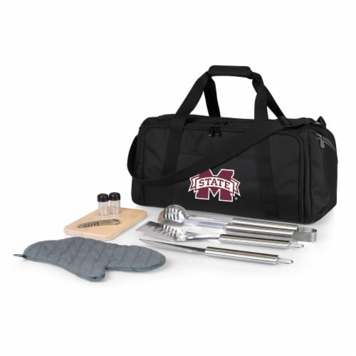 Mississippi State Bulldogs - BBQ Kit Grill Set & Cooler Perspective: front