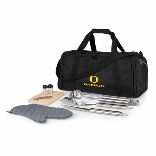 Oregon Ducks - BBQ Kit Grill Set & Cooler Perspective: front