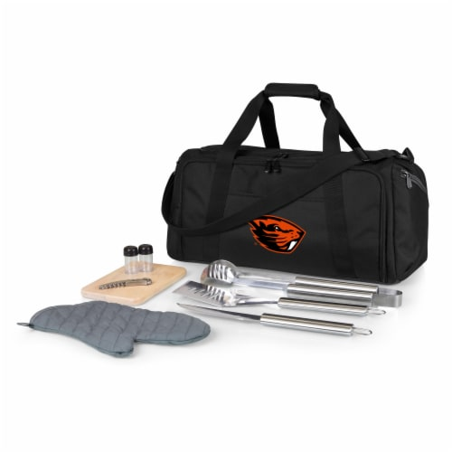 Oregon State Beavers - BBQ Kit Grill Set & Cooler Perspective: front