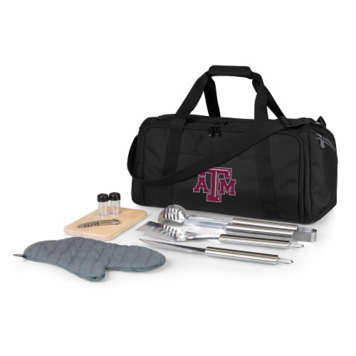 Texas A&M Aggies - BBQ Kit Grill Set & Cooler Perspective: front