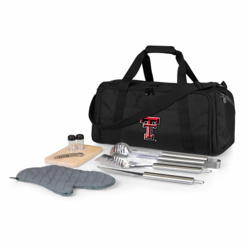 Texas Tech Red Raiders - BBQ Kit Grill Set & Cooler Perspective: front