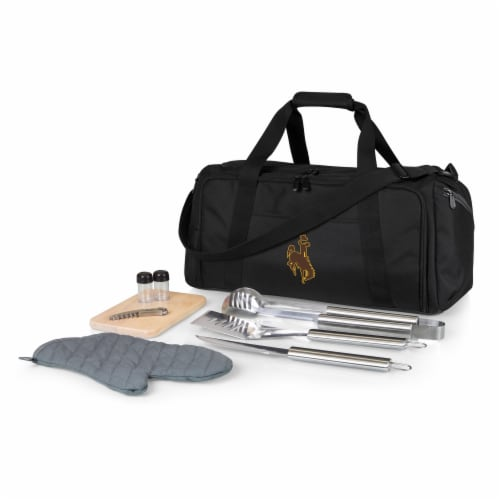 Wyoming Cowboys - BBQ Kit Grill Set & Cooler Perspective: front