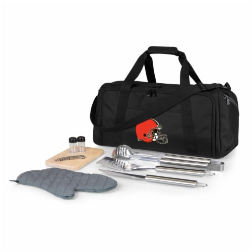 Cleveland Browns - BBQ Kit Grill Set & Cooler Perspective: front