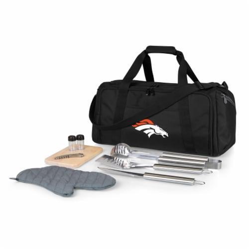 Denver Broncos - BBQ Kit Grill Set & Cooler Perspective: front