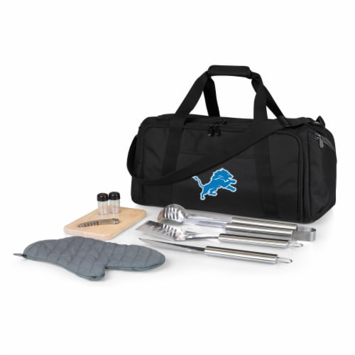Detroit Lions - BBQ Kit Grill Set & Cooler Perspective: front