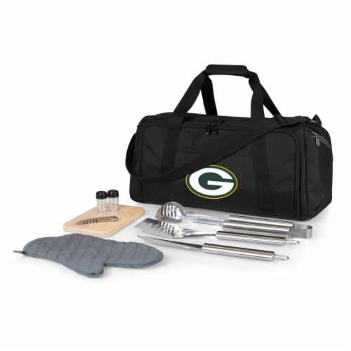 Green Bay Packers - BBQ Kit Grill Set & Cooler Perspective: front