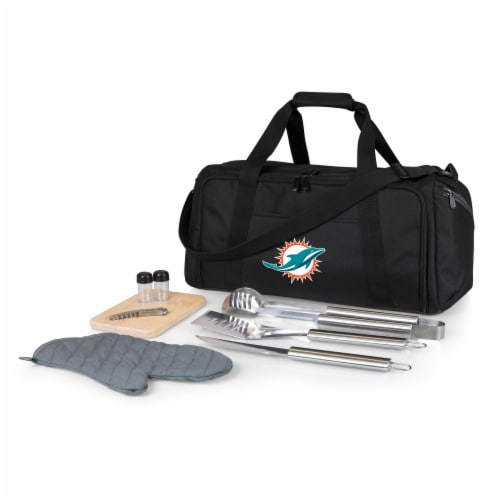 Miami Dolphins - BBQ Kit Grill Set & Cooler Perspective: front