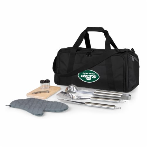 New York Jets - BBQ Kit Grill Set & Cooler Perspective: front