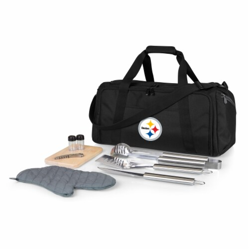 Pittsburgh Steelers - BBQ Kit Grill Set & Cooler Perspective: front