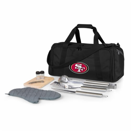 San Francisco 49ers - BBQ Kit Grill Set & Cooler Perspective: front