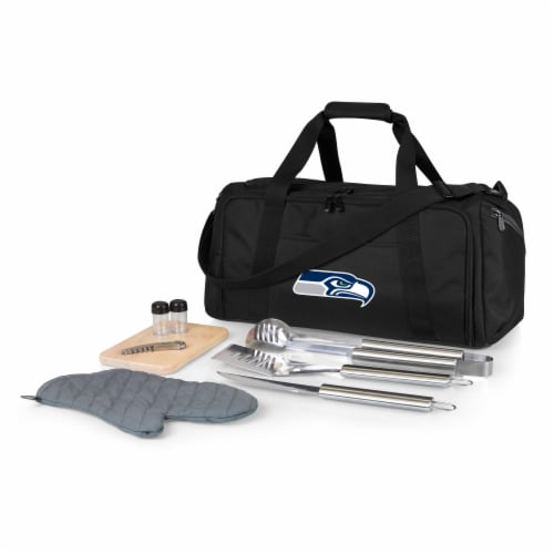Seattle Seahawks - BBQ Kit Grill Set & Cooler Perspective: front
