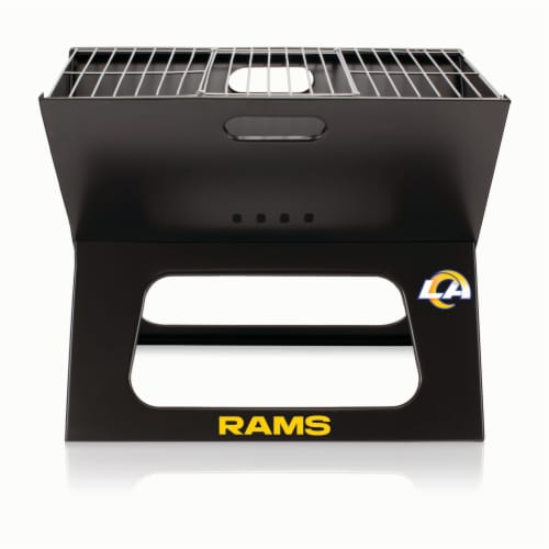Los Angeles Rams - X-Grill Portable Charcoal BBQ Grill Perspective: front
