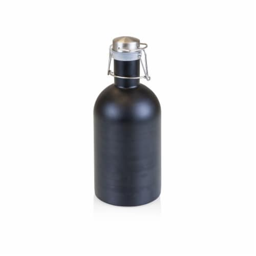 Stainless Steel 64 oz. Growler, Matte Black Perspective: front