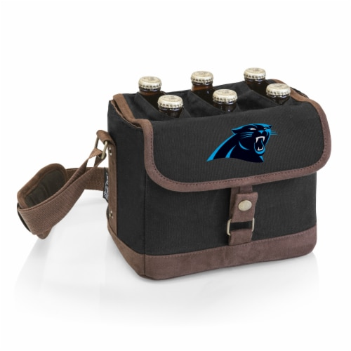 Carolina Panthers - Beer Caddy Cooler Tote with Opener Perspective: front