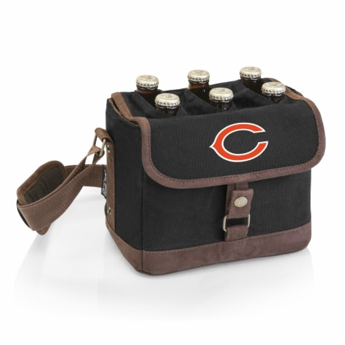 Chicago Bears - Beer Caddy Cooler Tote with Opener Perspective: front