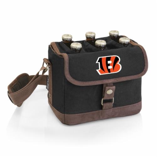 Cincinnati Bengals - Beer Caddy Cooler Tote with Opener Perspective: front