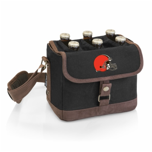 Cleveland Browns - Beer Caddy Cooler Tote with Opener Perspective: front