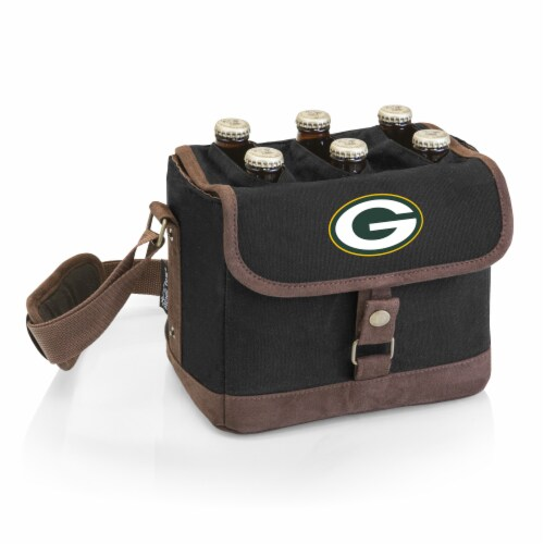 Green Bay Packers - Beer Caddy Cooler Tote with Opener Perspective: front