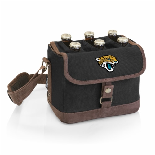 Jacksonville Jaguars - Beer Caddy Cooler Tote with Opener Perspective: front