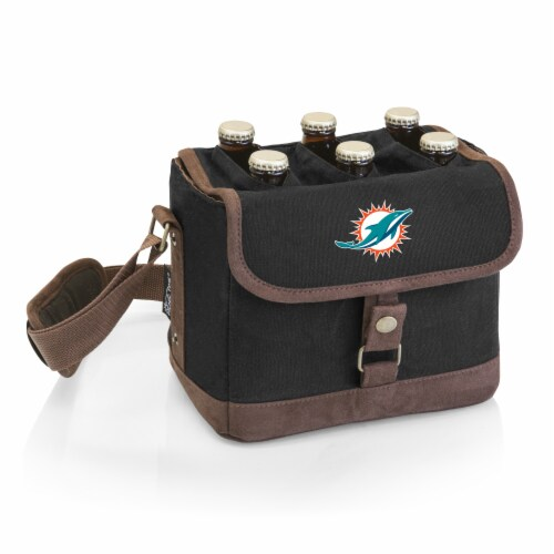 Miami Dolphins - Beer Caddy Cooler Tote with Opener Perspective: front