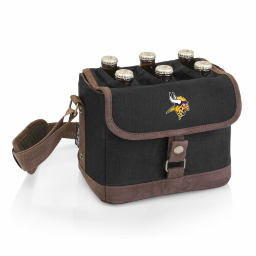 Minnesota Vikings - Beer Caddy Cooler Tote with Opener Perspective: front