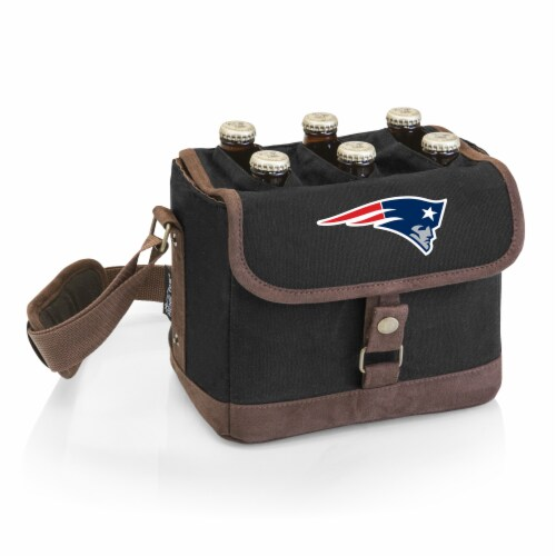 New England Patriots - Beer Caddy Cooler Tote with Opener Perspective: front