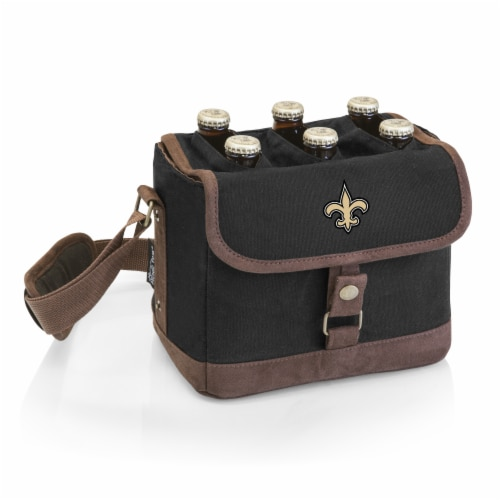 New Orleans Saints - Beer Caddy Cooler Tote with Opener Perspective: front