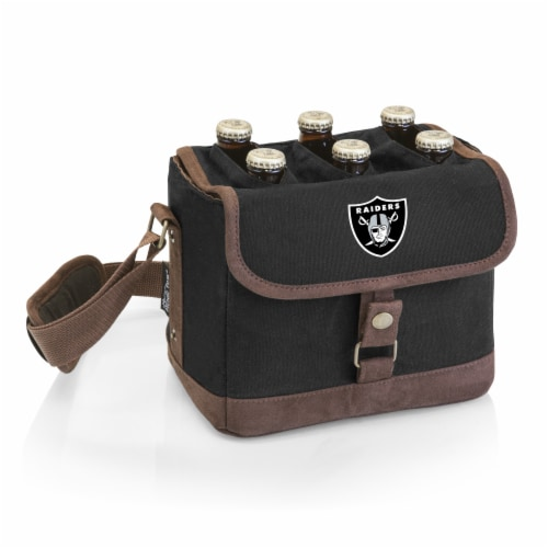 Las Vegas Raiders - Beer Caddy Cooler Tote with Opener Perspective: front