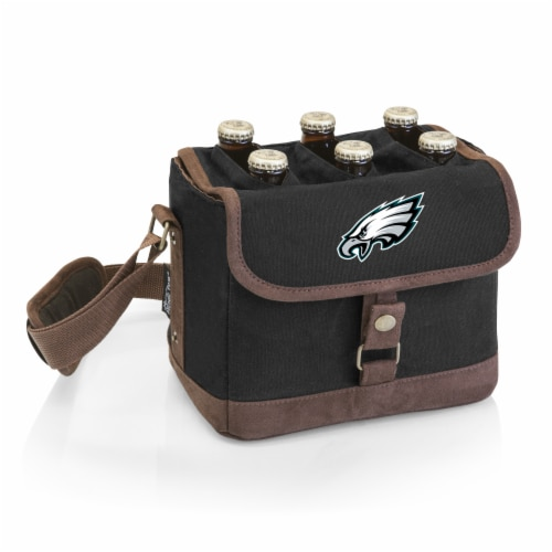 Philadelphia Eagles - Beer Caddy Cooler Tote with Opener Perspective: front